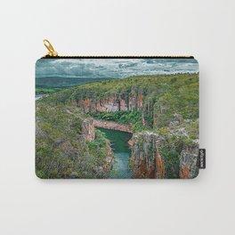Canyons de Furnas, Minas Gerais, Brazil. Big canyons with green water river and Cerrado vegetation. Carry-All Pouch