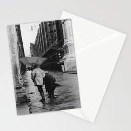 Two older ladies walking through the rain in Bologna, Italy | Tuscany travel and analog photography | 1 out of 3 pictures | Fine art print Stationery Cards