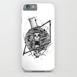 Brook Handmade Drawing, Made in pencil and ink, Tattoo Sketch, Tattoo Flash, Blackwork iPhone Case