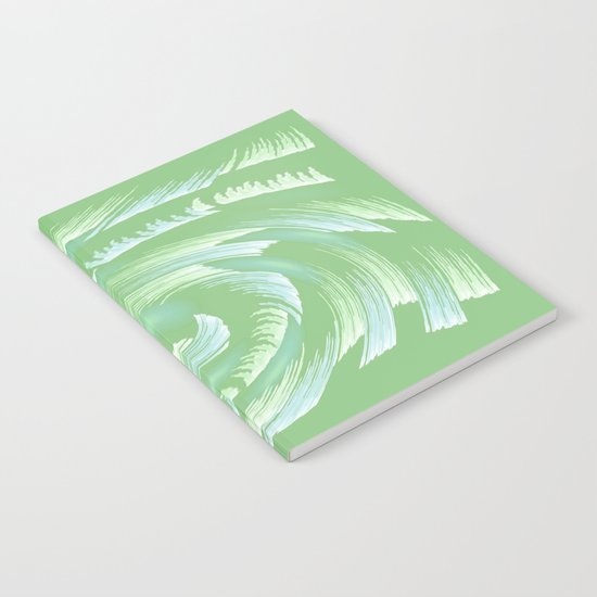 Water Swirl Abstract Notebook