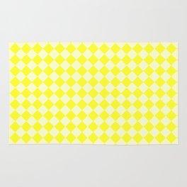 Cream Yellow and Electric Yellow Diamonds Rug