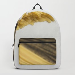 Tricolor spaghettis food photography Backpack