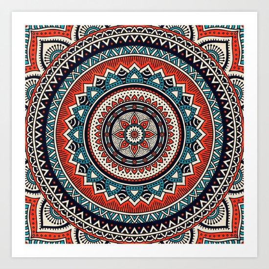 Hippie Mandala 8 Art Print
