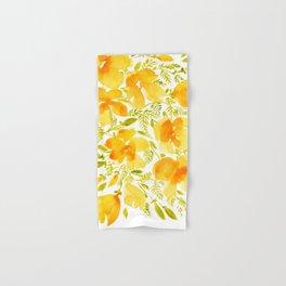Watercolor California poppies (Quad set, #4) Hand & Bath Towel