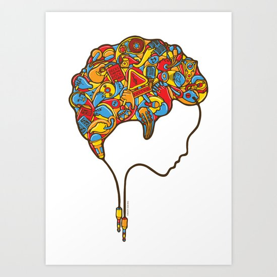 Musical Mind Art Print