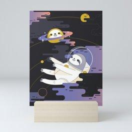 Planet Sloth Mini Art Print