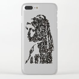 Kanji Calligraphy Art :Girl with a Pearl Earring Clear iPhone Case