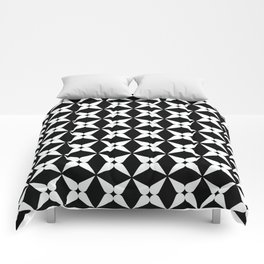 Geometric Pattern 247 (white crosses) Comforters