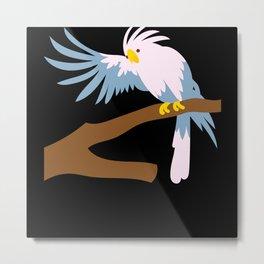 Bird Cute Exotic Animal Design Birds Friends Gift Metal Print