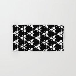 Minimalist Black and White Flower Pattern Hand & Bath Towel