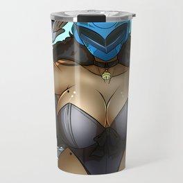 Radical blue Cat Travel Mug