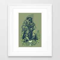daunt Framed Art Prints featuring Just Don't by Daunt