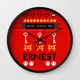 Ready Player One Alternate Cover Wall Clock