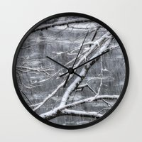 river song Wall Clocks featuring Winter's Song by Joann Vitali