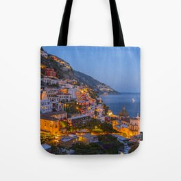 A Serene View of Amalfi Coast in Italy Tote Bag