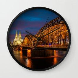Hohenzollern Bridge in Cologne Germany Wall Clock