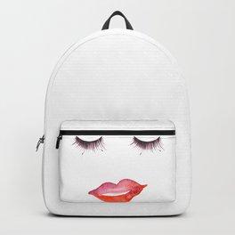 Lips and Eyelashes Backpack