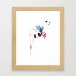 Pole Angel Justine Framed Art Print