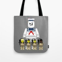 ghostbusters Tote Bags featuring Ghostbusters  by AWOwens