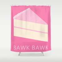 cake Shower Curtains featuring Cake by NeoQlassical