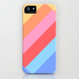 Matted Pastel Rainbow Layered iPhone Case