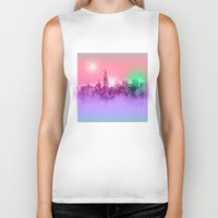 chicago Biker Tanks featuring chicago by Bekim ART