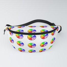 multicolor polka dot 4 -polka dot,pattern,dot,polka,circle,disc,point,abstract,minimalism Fanny Pack