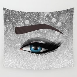 020e5edd57c Glam diamond lashes eye #1 Wall Tapestry