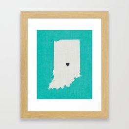Indiana Love Framed Art Print