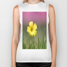 Yellow on Pink Biker Tank