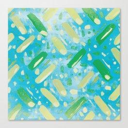 Festivities - Turquoise Canvas Print