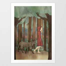 Red Riding Hood Art Print