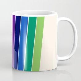 Awe Yeah - 70s style retro throwback 1970s rainbow colorful trendy graphic art Coffee Mug