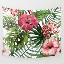 Monstera flowers Wall Tapestry