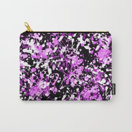 Orchid Splatter Paint Carry-All Pouch