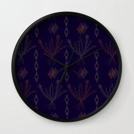 Purple Weeds Wall Clock