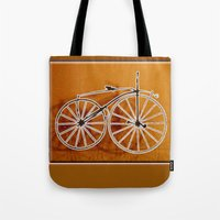 bike Tote Bags featuring Bike by CrismanArt