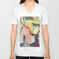 shoes V-neck T-shirts featuring shoes by Maria Enache