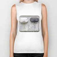 the wire Biker Tanks featuring Wire Covers by Ethna Gillespie