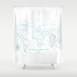 Where We've Been, World, Icy Blue Shower Curtain