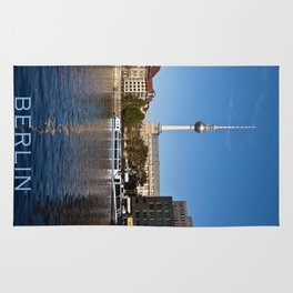 Autumnal Feeling at the River Spree in Berlin Rug