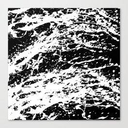 Black and White Paint Splatter Canvas Print