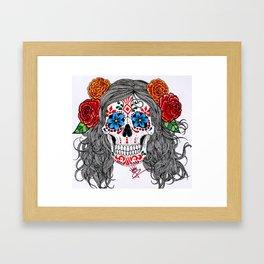 Doodle of the Day: La Catrina Framed Art Print