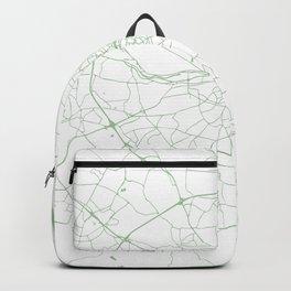 White on Green Dublin Street Map Backpack