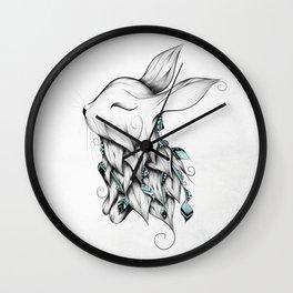 Poetic Rabbit Wall Clock