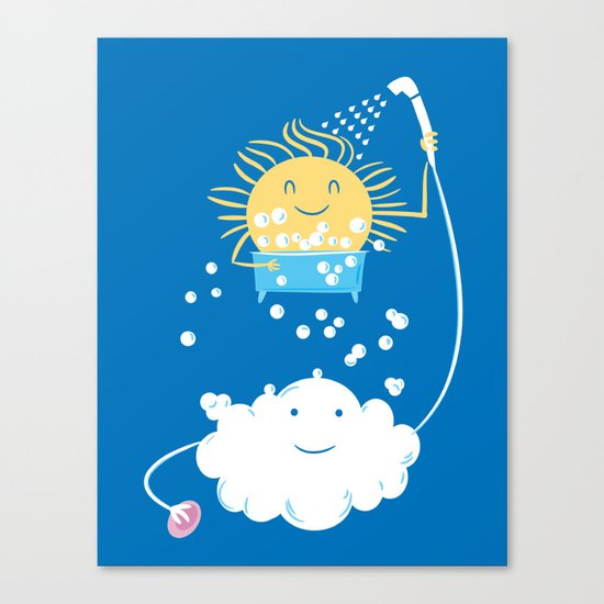 The Sunbathing Canvas Print