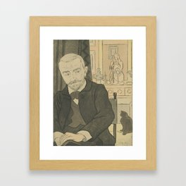 Portrait of Huysmans (Portrait de Huysmans) Eugène Delâtre (1864 - 1938) Framed Art Print