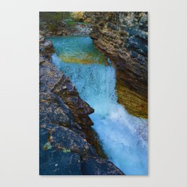 Beauty Creek Waterfall in Jasper National Park, Canada Canvas Print