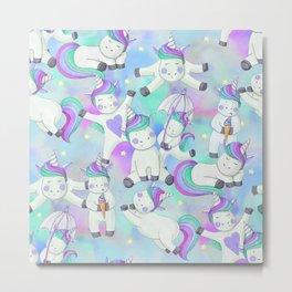 Unicorn Frolicking Metal Print