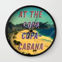 At the Copa Copacabana #2 – A Hell Songbook Edition Wall Clock
